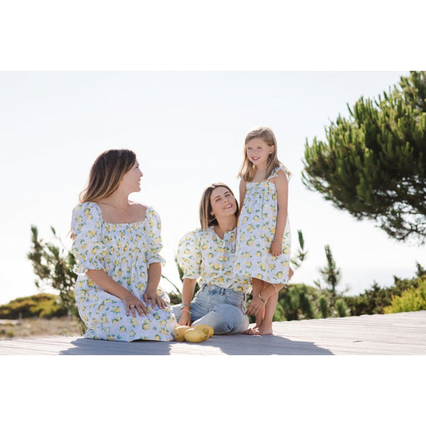 Blue lemonade Wendy Mom dress