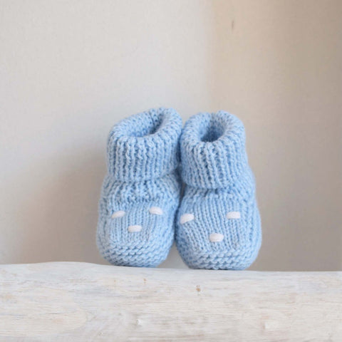 Oliver knitted booties with dots