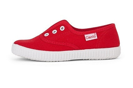 Slip on canvas- Red