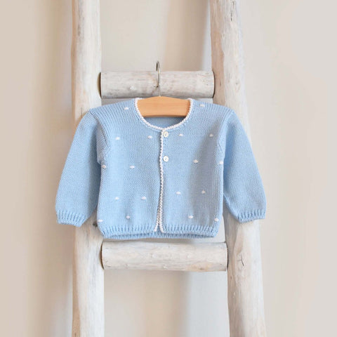 Oliver knitted cardigan with dots