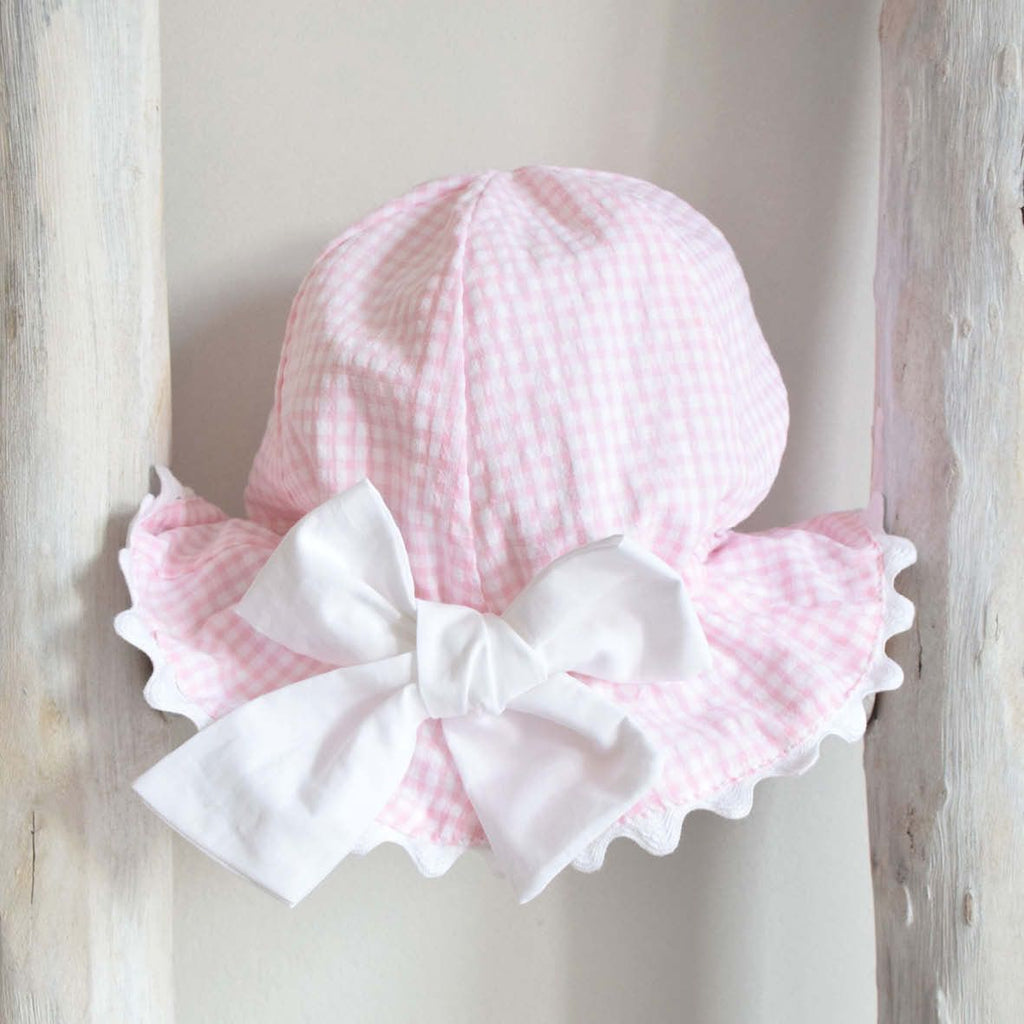 Sunny hat in pink vichy