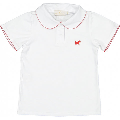 Cherry on Girl Polo