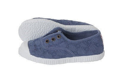 Slip on canvas shoes - vintage  blue