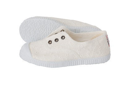 Slip on Canvas shoes - white