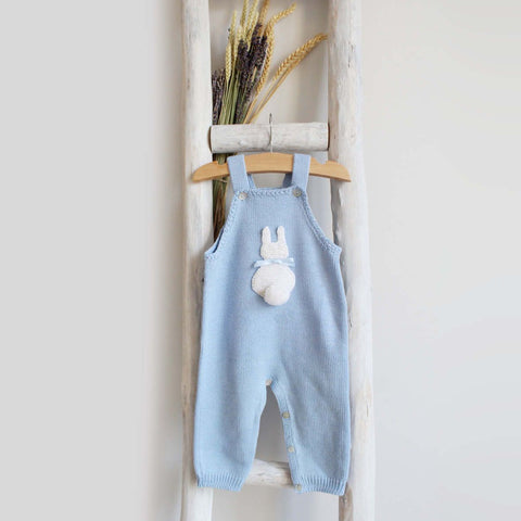 Bunny overall white/blue