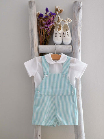 Oliver stripes mint shortall