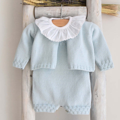 Organic Cotton romper in blue