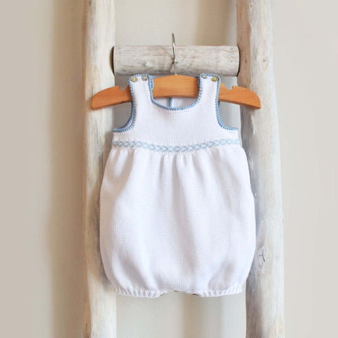 Cotton Romper with lace