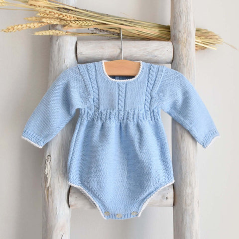 Cable blue romper