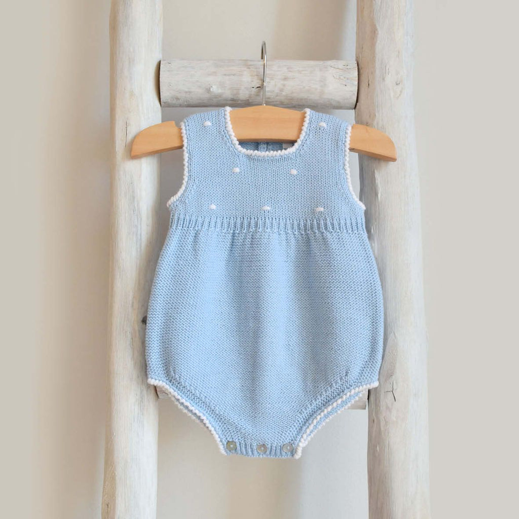 Oliver knitted romper with dots