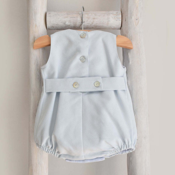 Piquet romper in blue