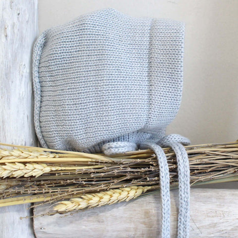 knitted bonnet blue
