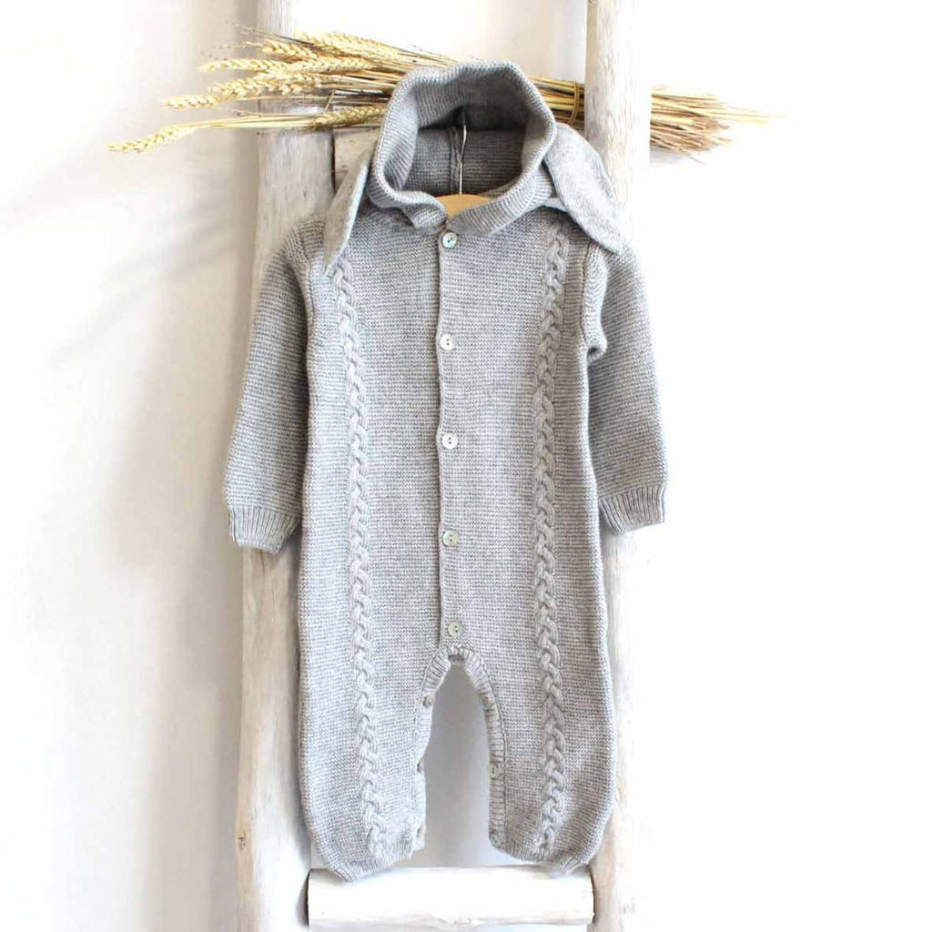 Bunny grey overall (cashmere mix)