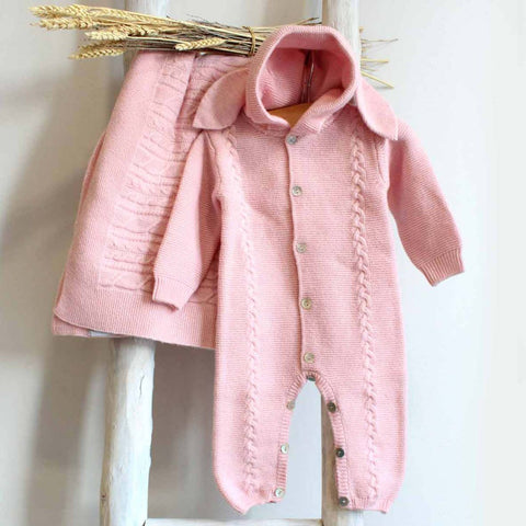 Bunny pink overall (cashmere mix)
