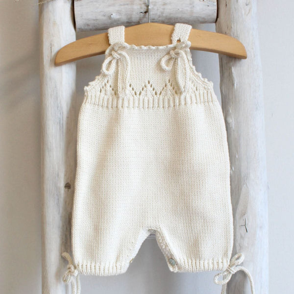 Organic cotton Pearl Knitted romper
