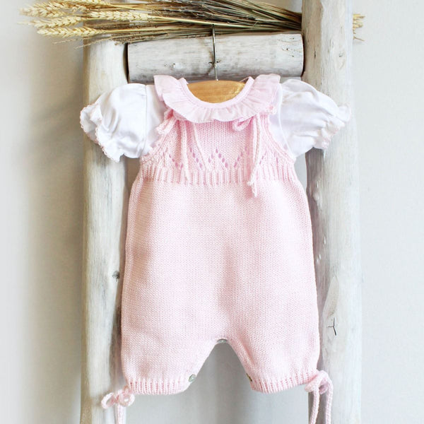 Organic cotton Knitted romper in pink