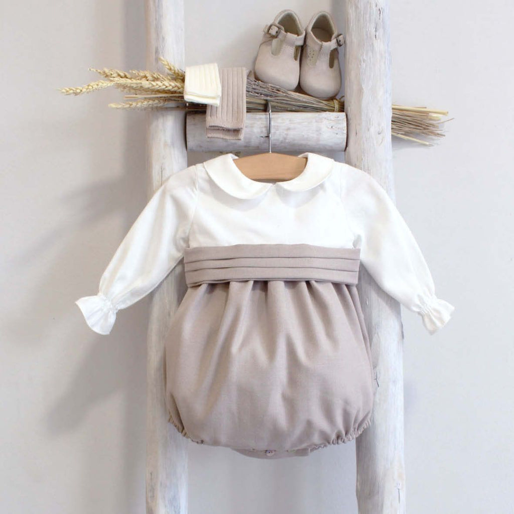 Oliver celebration romper-beige