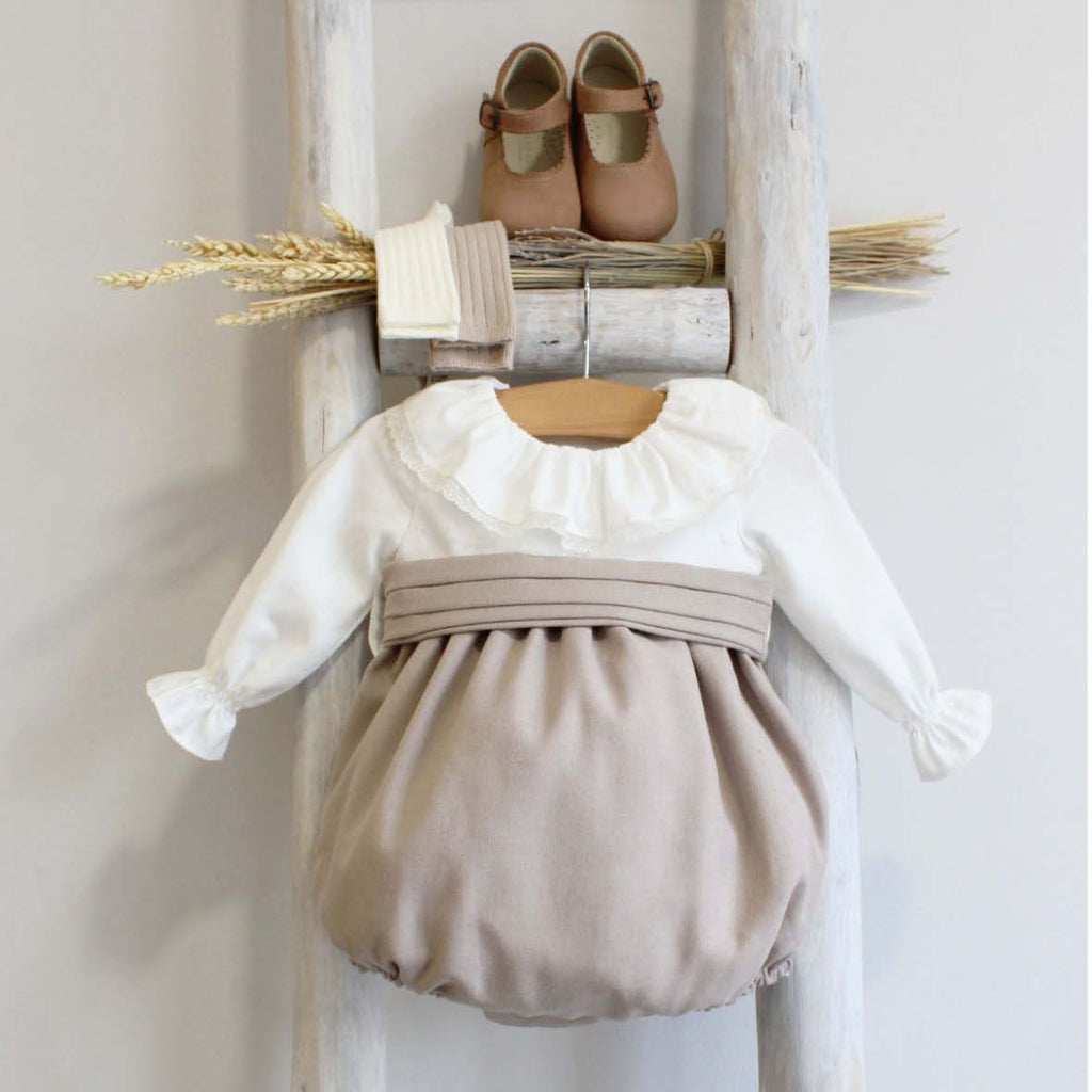 Anna celebration romper-beige