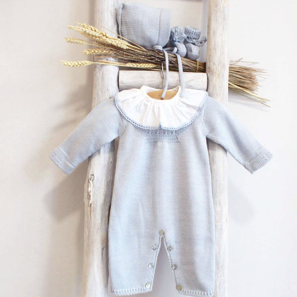 Blue knitted overall