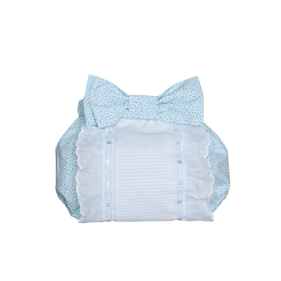 Blue flowers nappy cover
