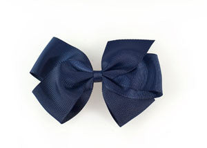 Large Hair Bow-Navy