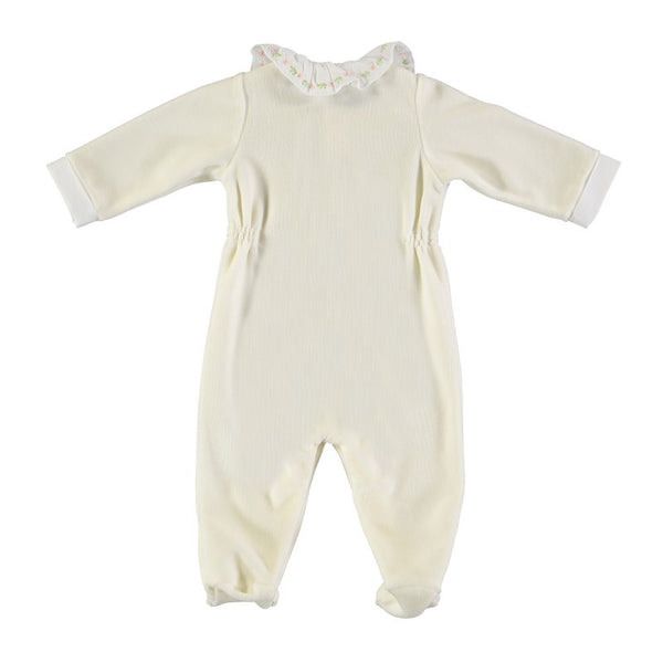 Light yellow comfy babygrow