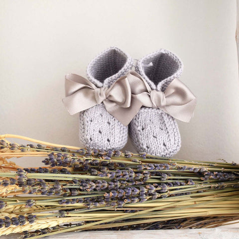 Organic cotton grey booties