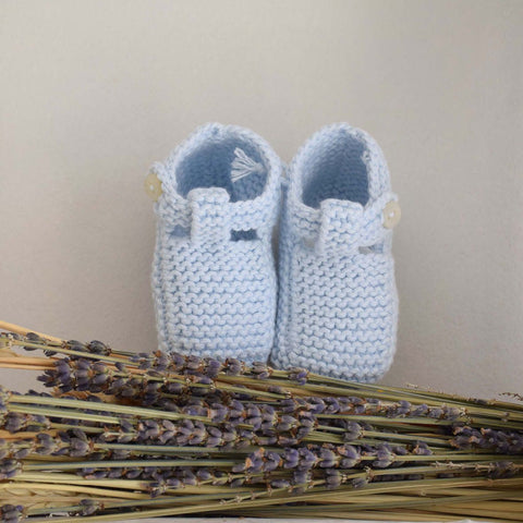 Organic cotton blue booties