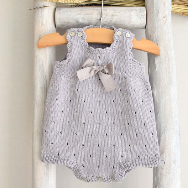 Organic cotton grey romper