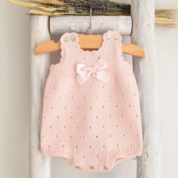 Organic cotton romper in pink