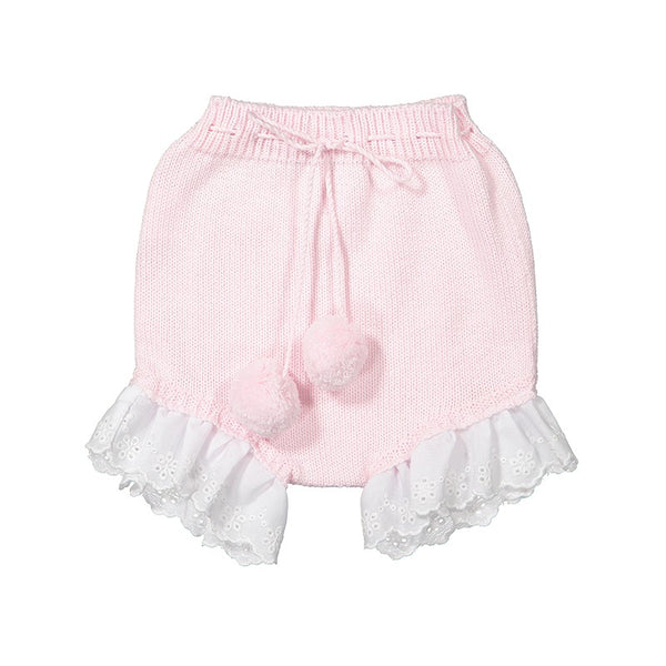 Pink pompom nappy cover