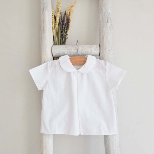 Short sleeves shirt off white