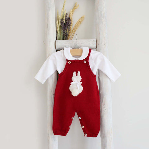 Red Bunny Overall