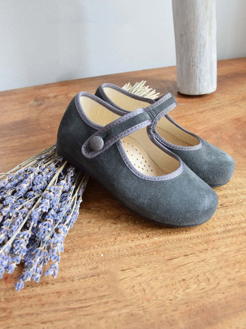 Grey Suede Mary Jane shoes