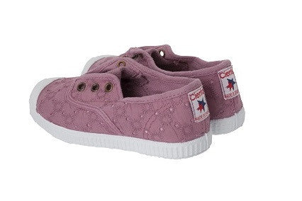 Slip on canvas shoes -vintage pink