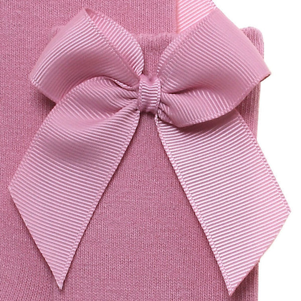 Dusty pink (tamarisco) high knee socks with side bow