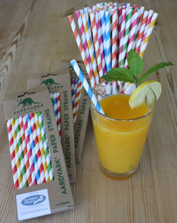 Paper Straws for Christmas Cocktails