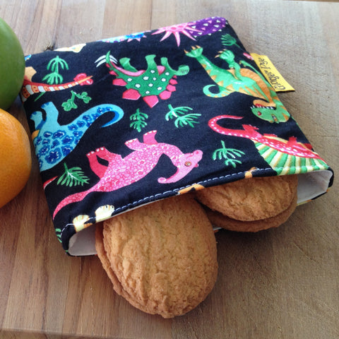 Reusable Snack Pocket - Dinosaur Rumble