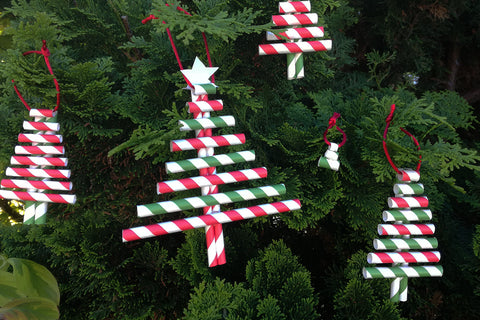 Paper Straws - Christmas Trees