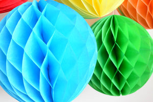 Tissue Honeycomb Decorations