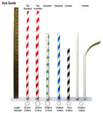 Biodegradable paper cocktail straws