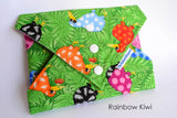 Reusable sandwich wraps, eco-friendly, Rainbow Kiwis