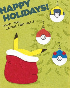 Catch Em All Christmas - Handmade Card