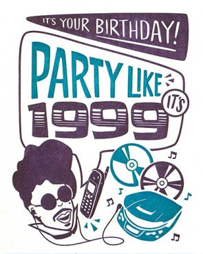 1999 Birthday - Letterpress Card