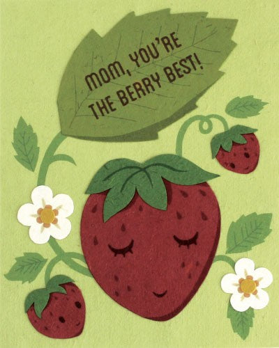 Berry Best Mom - Handmade Card