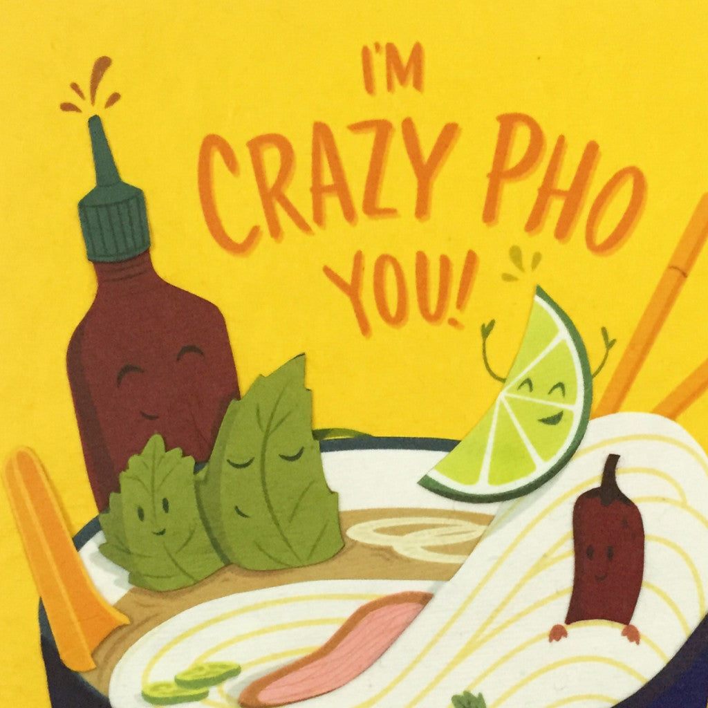 Crazy Pho You - Handmade Card