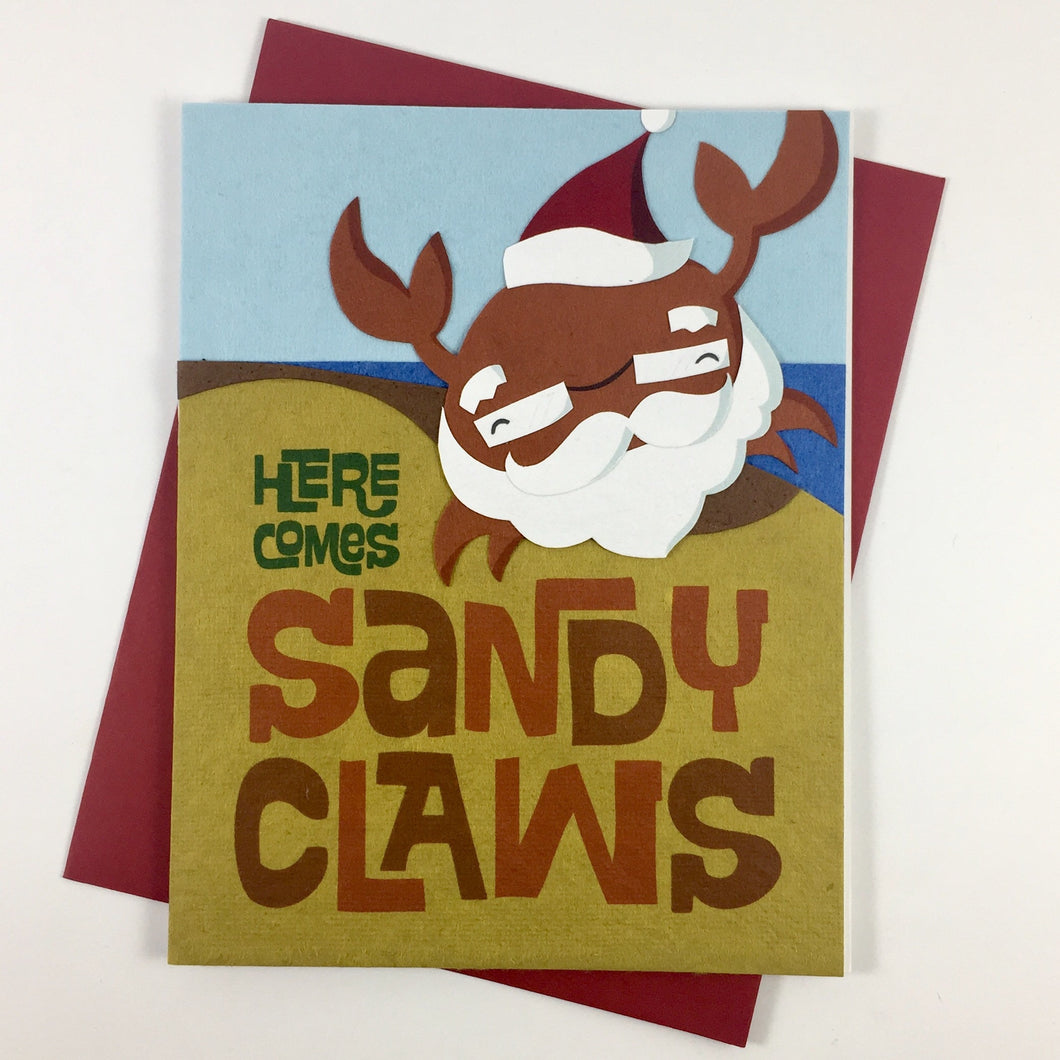 Sandy Claws - Handmade Card