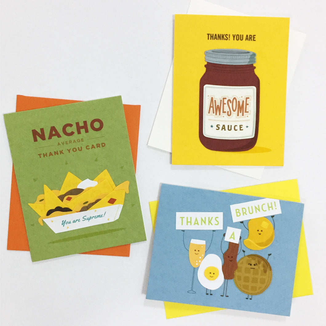 Foodie Thank You - Handmade Cards Gift Set