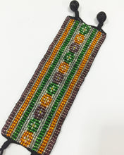 Beaded Cuff - Pansies