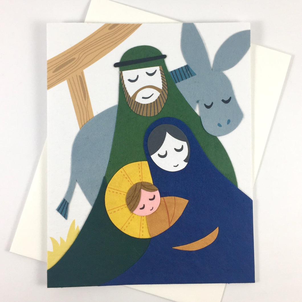 Peaceful Nativity - Handmade Card